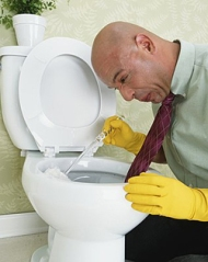 Other than the fact this guy is wearing a tie, to clean the crapper, this could be me.