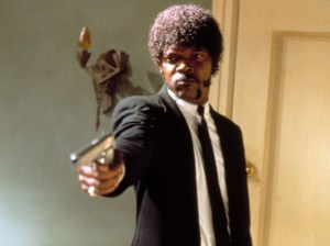 Jules Winfield (Samuel L. Jackson) in the 1994 Quentin Tarantino film Pulp Fiction.