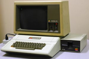 The Apple ][, on which many of us learned to write productive computer programs in BASIC, like the one on the right.