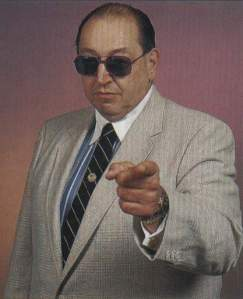 """The fans are literally hanging from the rafters,"" Wrestling commentator Gorilla Monsoon regularly quipped. (No fans were anywhere near the rafters.)"
