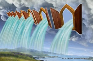 One artist's rendition of the floodgates of heaven.