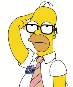 Homer Simpson puts his mind to something important.