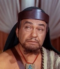 Edward G. Robinson played Dathan in The Ten Commandments.