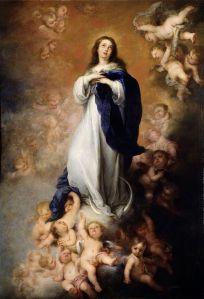 La Purísima Inmaculada Concepción by Bartolomé Esteban Murillo, 1678, now in Museo del Prado, Spain.