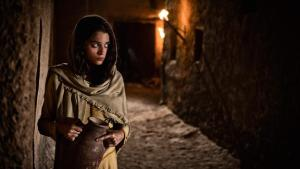 Stephanie Leonidas plays Rahab in The Bible miniseries.