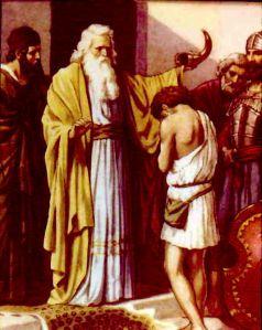 Samuel anoints David.