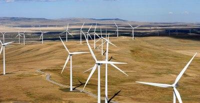 A wind farm near Pincher Creek, Alberta