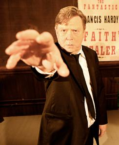 The character Frank from the play Faith Healer, by Brian Friel, in a Portland Stage Company production from 2012.