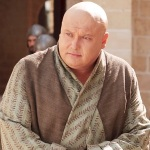 Lord Varys (Conleth Hill), a eunuch on the HBO series Game of Thrones