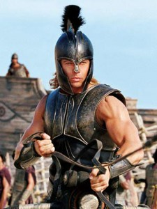 Pitt as Achilles