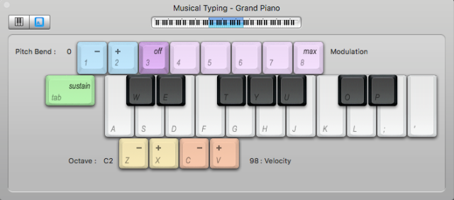 Im not sure if being completely unskilled on the piano is an advantage or disadvantage when trying to play keys on a computer keyboard using this goofy tool, but I got the job done.