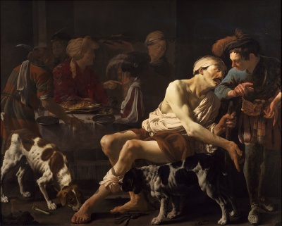 The Rich Man and the Poor Lazarus, by Hendrick ter Brugghen