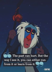 Pain, like the past, can be run from or learned from. Right, Rafiki?