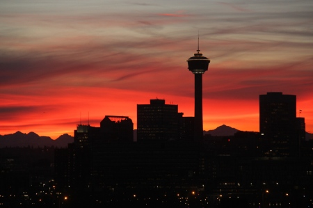 If you live in Calgary, theres potential to see a sunset like this, every day.