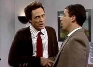 An unimportant epiphany is something that would often come to 90s SNL character Ed Glosser, Trivial Psychic Christopher Walken, left
