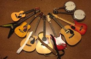 More guitars, Baldy?